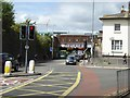 ST2225 : Station Road, Taunton and the station bridge by David Smith