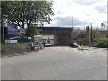 ST2225 : Railway bridge over Station Road, Taunton by David Smith