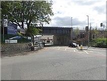ST2225 : Railway bridge over Station Road, Taunton by David Smith