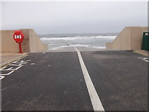 NZ6025 : Lifeboat Slipway - Esplanade by Betty Longbottom