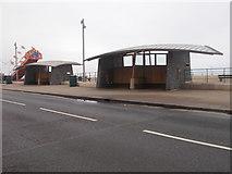 NZ6025 : Shelters on the Esplanade by Betty Longbottom
