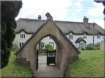 SX9792 : The lych gate of Sowton church by David Smith