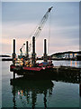 SW8133 : Jack-up Barge at Falmouth Northern Wharf by David Dixon