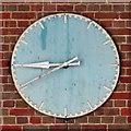 TQ1684 : Sudbury Town tube station - clock by Mike Quinn
