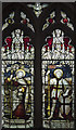 TL2966 : St Mary Magdalene, Hilton - Stained glass window by John Salmon