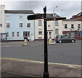 SO8555 : Worcester railway stations signpost, Lowesmoor Terrace, Worcester by Jaggery