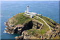 SH2082 : South Stack and South Stack Lighthouse by Jeff Buck
