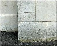 SK4641 : Bench mark, former Post Office, Ilkeston by Alan Murray-Rust