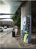 NS5766 : Street art on the pier of a footbridge, North Street by David Smith