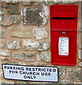 SO5815 : Queen Elizabeth II postbox in an English Bicknor wall by Jaggery
