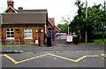 SO9233 : Zigzag road markings outside Ashchurch Primary School, Ashchurch  by Jaggery