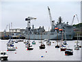 SW8132 : RFA Argus at Falmouth Harbour by David Dixon