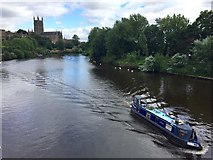 SO8454 : River Barge on the Severn by Alan Hughes