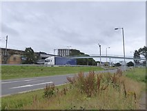 NS5665 : Footbridge over A814 by David Smith