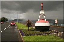 NS2677 : Old navigation buoy, Esplanade, Greenock by Richard Sutcliffe