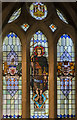 SX9292 : Stained glass window, St James' chapel, Exeter Cathedral by Julian P Guffogg