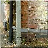 SK4641 : Bench mark, East Street, Ilkeston by Alan Murray-Rust