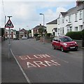 ST2179 : Warning sign - bends ahead, Church Road, Rumney, Cardiff by Jaggery