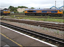 SU4519 : GBRf diesel locomotive 66735 in Eastleigh by Jaggery