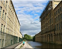 SE1438 : Salt's Mill on the Leeds & Liverpool Canal by Mat Fascione