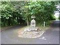 NS5562 : Stone urn near Knowehead Lodge, Pollok Country Park by David Smith