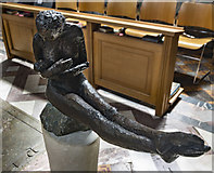 SX9292 : Sculpture, Exeter Cathedral by J.Hannan-Briggs