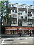 TQ3282 : Food centre and flats over on Old Street, London by JThomas