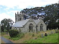 SX0771 : The Church of St Helena at Helland by Rod Allday