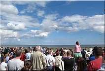 J3730 : Watching the Red Arrows display from Newcastle's Central Promenade by Eric Jones