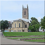 SK3536 : Derby Cathedral: roof repairs by John Sutton