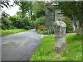 SX0973 : Ancient cross beside the road at Blisland by Rod Allday