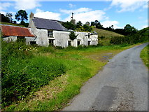 H6359 : Derelict farmhouse along Killymorgan Road by Kenneth  Allen