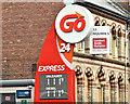 J3373 : Fuel prices sign, Belfast (11 August 2017) by Albert Bridge