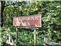 SJ9744 :  Dilhorne Park station sign by Gerald England