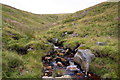 SD7597 : Looking up Ais Gill towards Wild Boar Fell by Roger Templeman