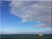 SZ6397 : Big sky over Spitbank Fort, Spithead by Paul Coueslant