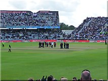 SJ8195 : Media coverage at the Old Trafford test match by Christine Johnstone