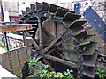 SJ9756 : Brindley Mill, Leek - waterwheel by Chris Allen