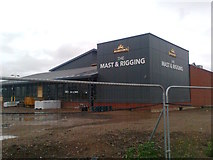 TQ7769 : The Mast and Rigging (under construction) by David Anstiss