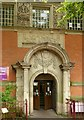 SK4641 : Entrance to the Carnegie Library, Ilkeston by Alan Murray-Rust