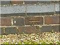 SK4235 : Bench mark, Cole Lane bridge, Ockbrook by Alan Murray-Rust