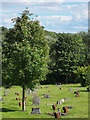 NZ3032 : Pottery memorials at Ferryhill cemetery by Trevor Littlewood