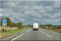 SK9320 : A1 northbound layby by Robin Webster