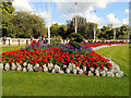 TQ2979 : Flowerbed near St James's Park by Paul Gillett