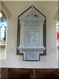 SS9708 : War memorial, Butterleigh church (St Matthew) by David Smith