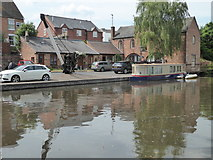 SO8171 : Former wharf and crane, Stourport by Chris Allen