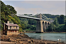 SH5571 : Menai Suspension Bridge by Tom Curtis