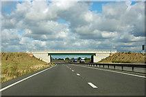 SK8839 : Newish bridge over A1, Gonerby Moor by Robin Webster