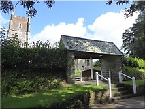 SS8712 : The lych gate of Cruwys Morchard church by David Smith