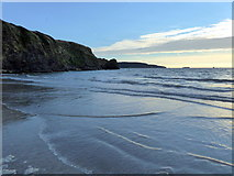 SM8513 : Beach and Cliffs at Broad Haven by PAUL FARMER